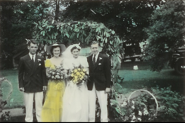 Florence and Cliff wedding June 30, 1940, Hainesville 1